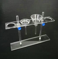 1PCS Organic Glass Funnel Stand PMMA Support Rack Lab Supplies 2holes or 4holes Pore size 55mm