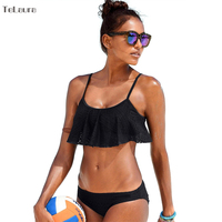 2017 Sexy Ruffle Bikinis Women Swimsuit Push Up Swimwear Puse Size Lace Brazilian Bikini Set Beachwear