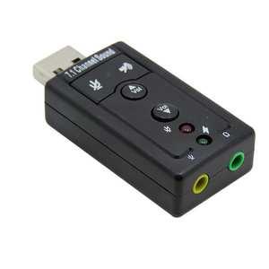 Portable Audio Adapter Usb 7.1 Channel Esternal 3D usb sound card audio interface soundcard Adattatore Pc Notebook Card Adapters