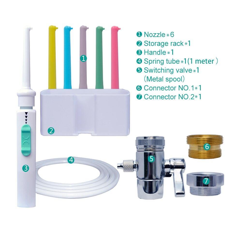 AnpassungsfäHig Azdent 6 Tipps Wasserhahn Dental Flosser Schalter Wasser Munddusche Implementieren Bewässerung Einzelnen Multi Jet Floss Familie Zahn Reiniger Mundhygiene