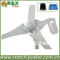 Windmill Generator 400w Rated 600w Max Wind Turbine Generator Wind Solar Hybrid Controller LED Display 600W