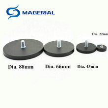 4pcs Mounting Magnetic Disc Dia 22mm LED Light Holding Spotlight Holder Male Thread NdFeB Magnet Strong Neodymium Magnet цены