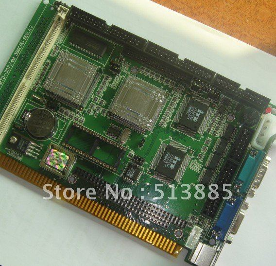 Aaeon SBC-357/4 industrial motherboard half-size CPU card with MITE 8661F/ISA single board computer
