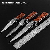 سكين جيب صغير الفولاذ المقاوم للصدأ التيتانيوم سكينة تكتيكية متعددة أداة البقاء على قيد الحياة المشي لمسافات طويلة التبديل شفرة الدفاع في الهواء الطلق السكاكين|سكاكين|   -