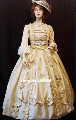 Custom Made Civil War Victorian 1860s Ruffles Ball Gown