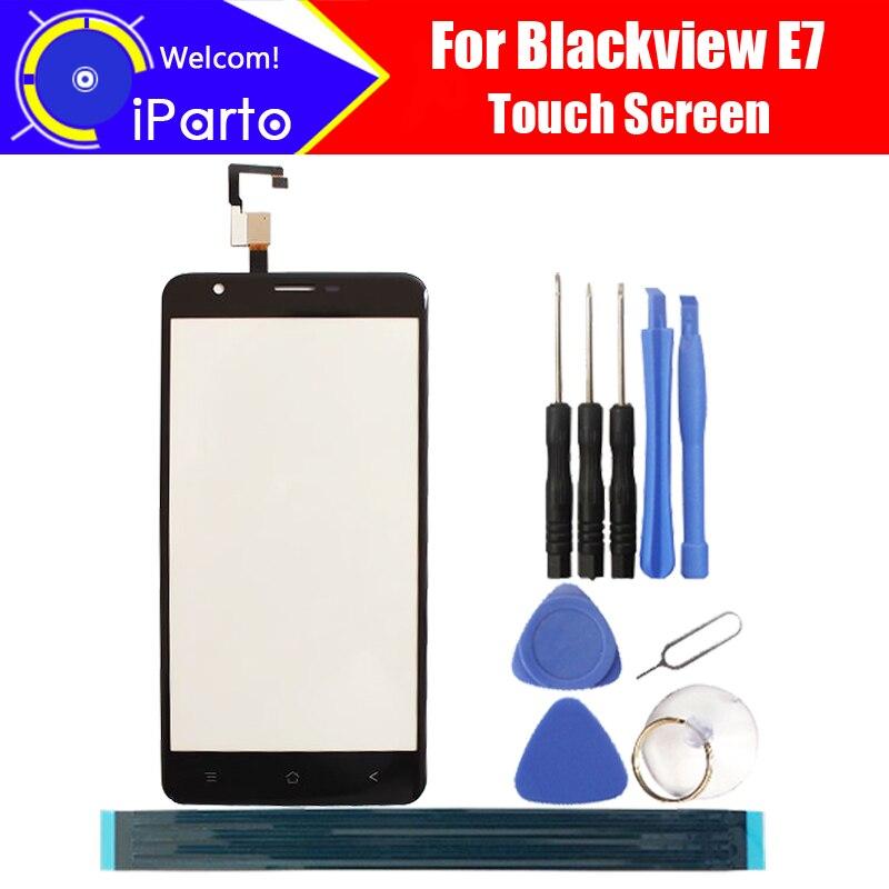 5.5 pouce Blackview E7 Digitizer Écran Tactile 100% Garantie D'origine Panneau de Verre Écran Tactile En Verre Pour E7 + outils + adhésif