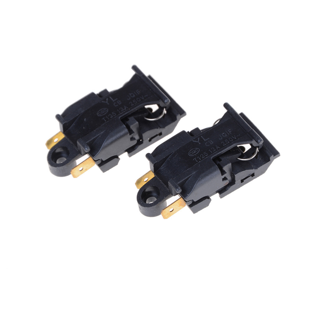 Black 2 Pcs Switch Electric Kettle Kitchen Appliance Parts Thermostat Switch