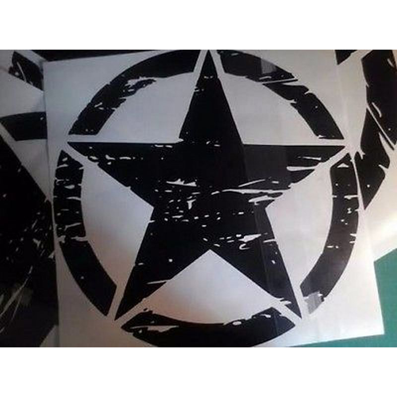 Image 3 - 50cm Stars Car Stickers and Decals For Jeep Hood Auto Decal Engine Cover Car Vinyl Car Accessories 3 Colors-in Car Stickers from Automobiles & Motorcycles