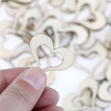100 Uds 3cm * 2,7 cm * 0,3 cm confeti de madera con forma de corazón para mesa romance vintage confeti de amor dulce foto accesorios boda decoración