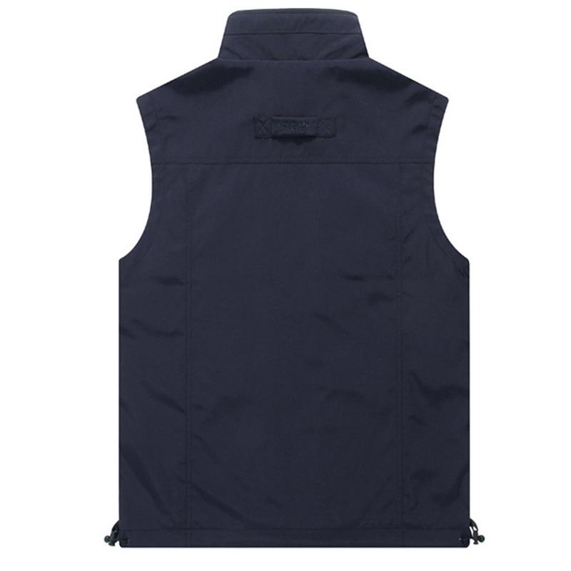 2019 hommes en plein air Multi poche fourche maille gilet respirant - Vêtements pour hommes - Photo 2