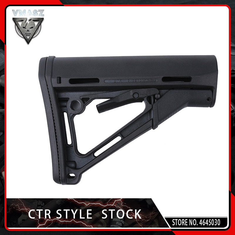VMASZ Tactical CTR Stock Higher Version Common Version For Airsof AEG Hunting Accessories Nylon Black