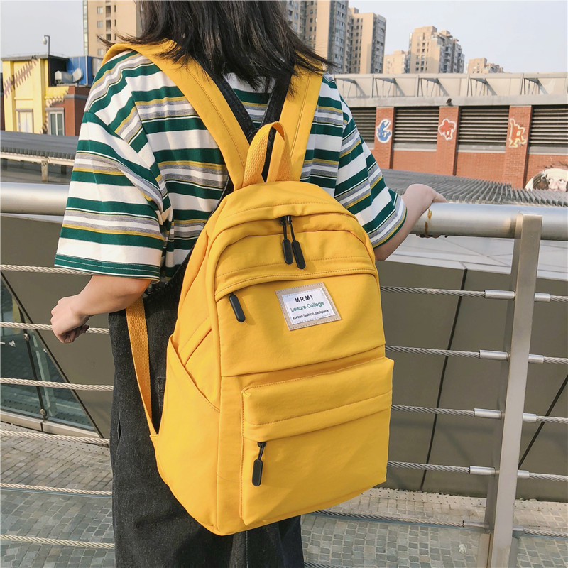 JOYPESSIE Fashion Waterproof Backpack School Bag Women Simple For Teen Girl Nylon Backpack Travel Mochilas