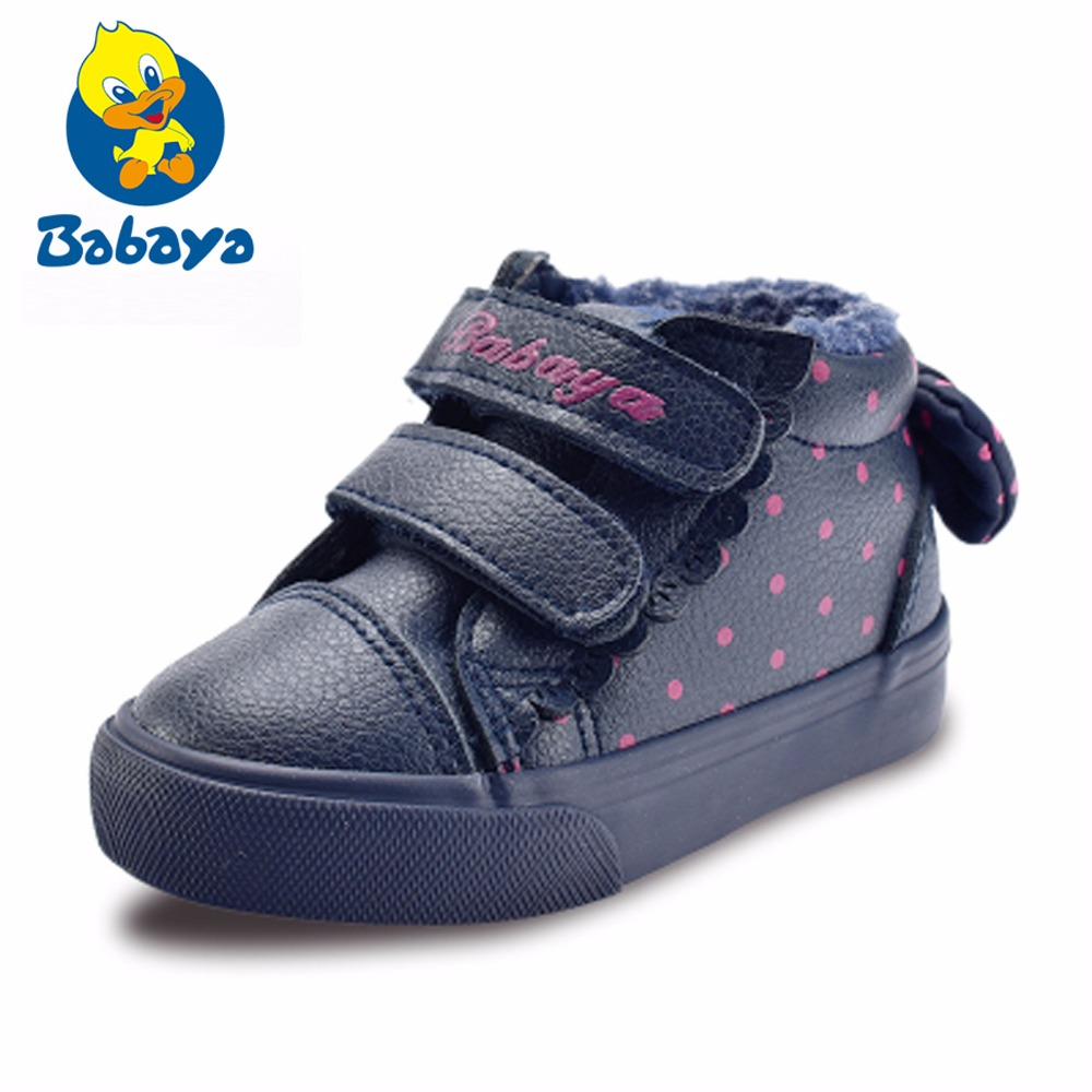 Baby Winter Shoes Toddler Cotton-padded Shoes Boys Warm 1-2-3 Year Children Shoes 2017 Winter New Baby Boots Girls Shoes