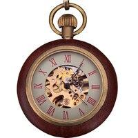 FORSINING 2017 FOB del reloj de Bolsillo de La Vendimia Reloj Mecánico de Los Hombres Clásicos Dial de Roma Numberal Caja Redonda de Oro de Cobre Rojo de Nuevo La Cadena de Relojes