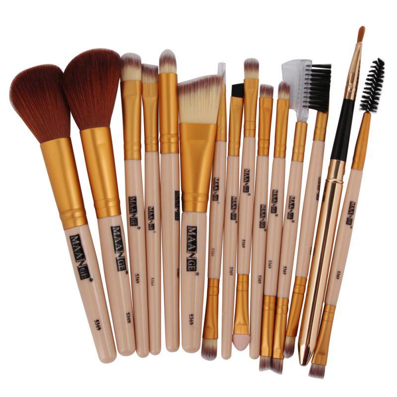 15Pcs Set Professional Makeup Brush Rose Gold Makeup Brushes Set Kit font b Foundation b font