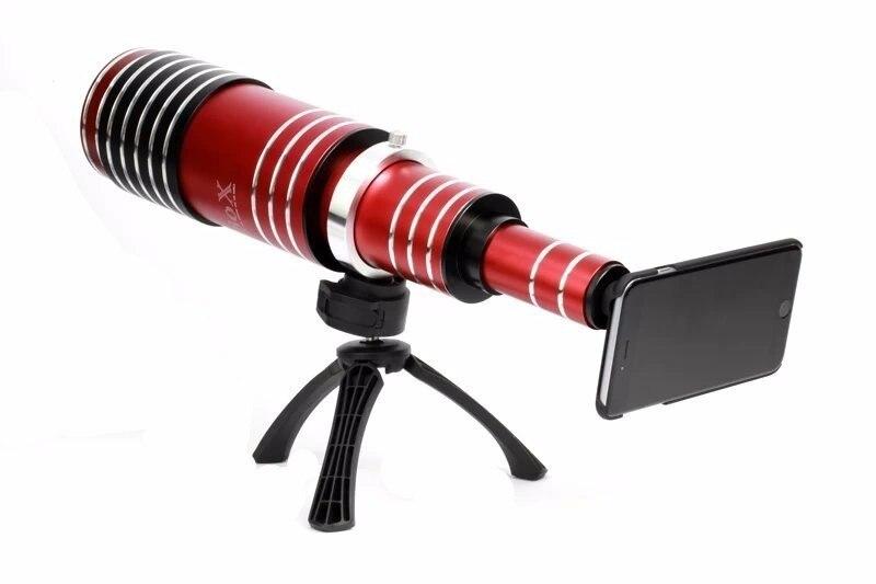 imágenes para 80X de alta gama Metal Teleobjetivo Zoom Telescopio de Lentes de Cámara Del Teléfono Móvil Kit 3in1 Para el iphone 5 5S 6 6 s 7 Plus Android