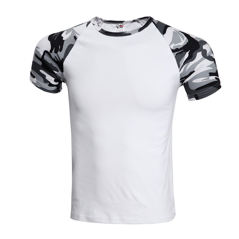 cool t shirt men fashion camouflage short sleeve slim fit