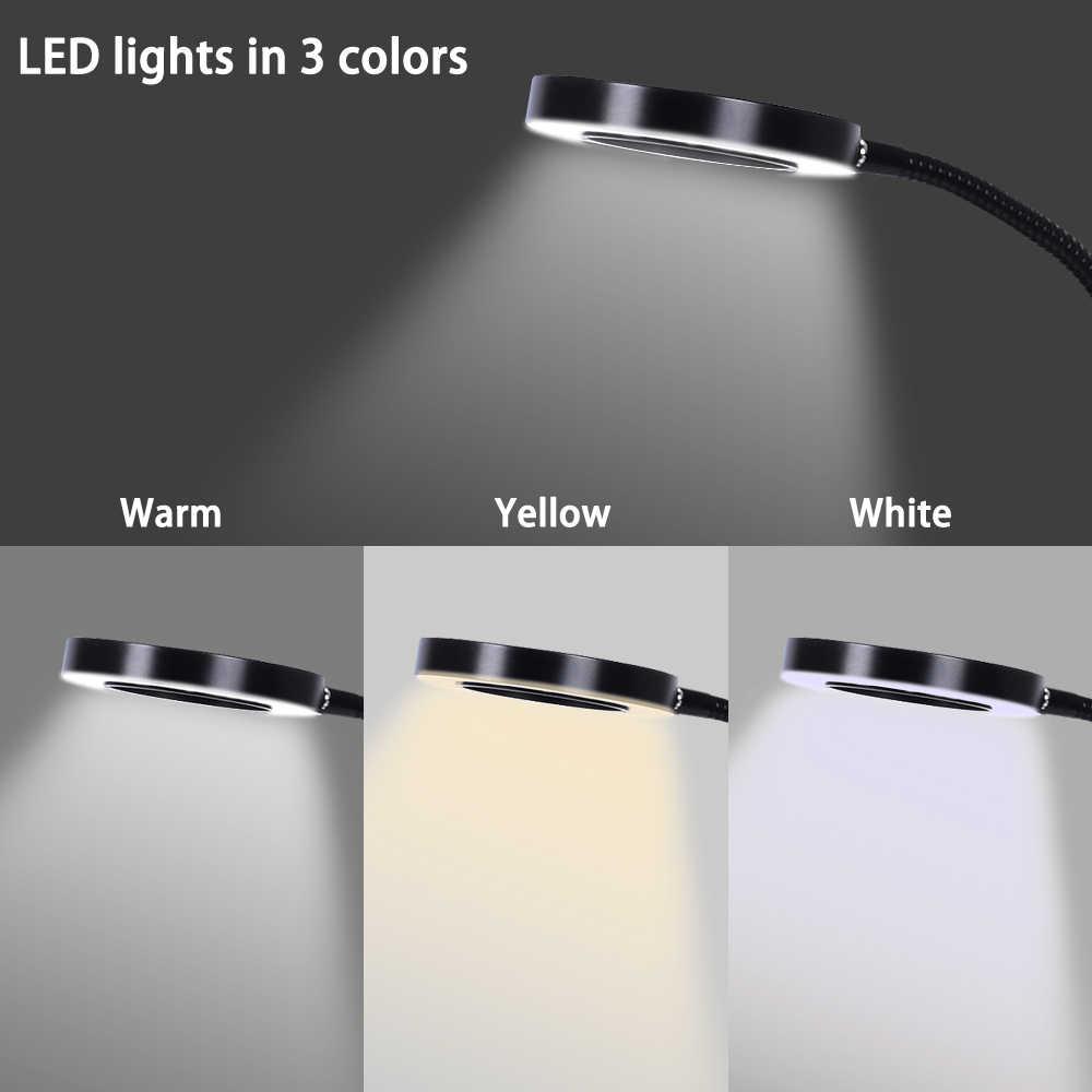 Toolour, lupa de 3X con Base de imán fuerte, lupa iluminada con luz LED USB, brazo Flexible para soldadura de banco de trabajo de lectura