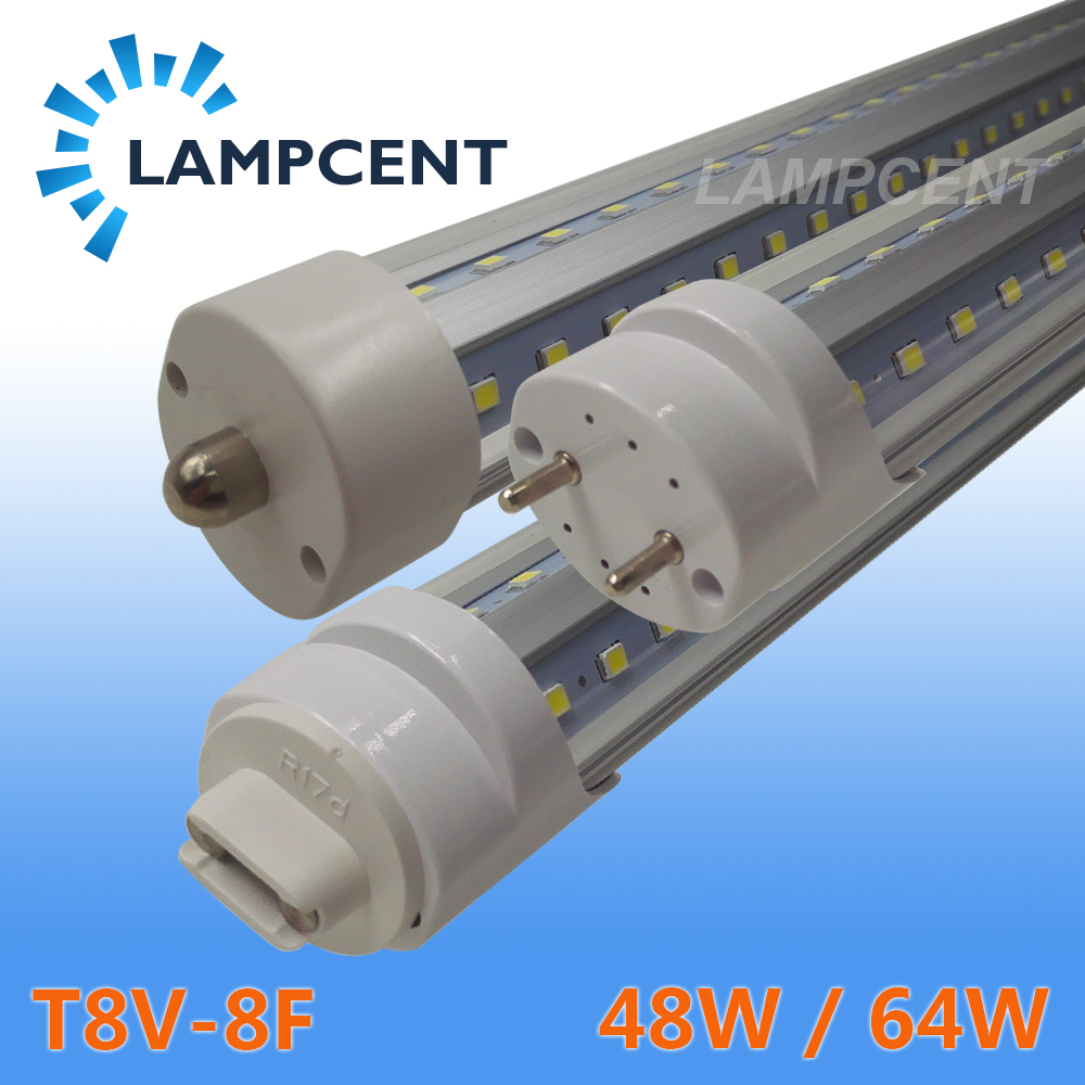 T8 V-Shaped 8FT LED Tube Light (2.4M) 48W 64W Single pin FA8 R17D HO F96 T8T10T12 Fluorescent Lamp Super Bright Retrofit Bulb