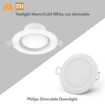 Original Xiaomi Philip Yeelight Downlight 5W LED Light Lamp WiFi Adjustable Color Temperature Round Ceiling Recessed Light 1
