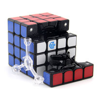 GAN 460 M Magnetic Cube 4x4 Cubo Magico 4x4x4 Gan 460M Speed Magic Cube 4*4 Professional Puzzle Toy Black And Stickerless Cube