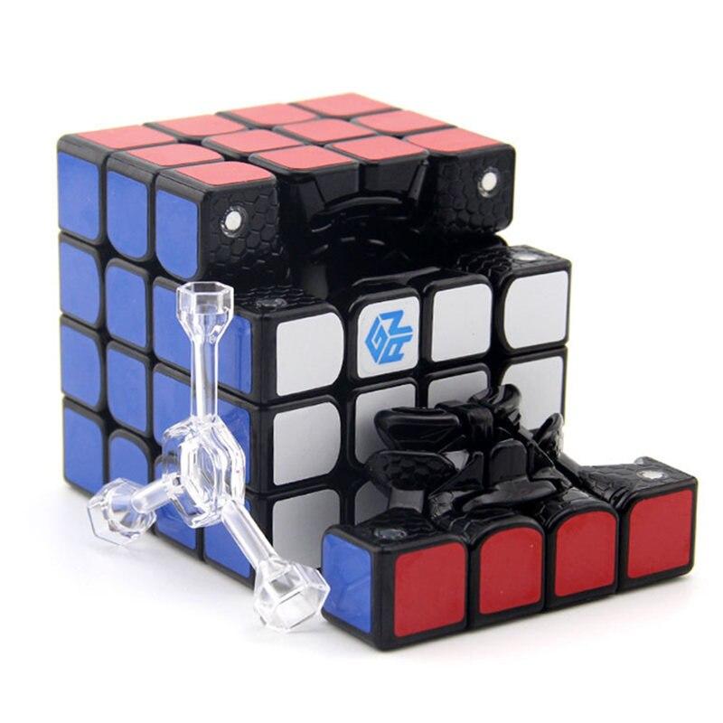 GAN 460 M Cube magnétique 4x4 Cubo Magico 4x4x4 Gan 460 M Cube magique de vitesse 4*4 Puzzle professionnel jouet Cube noir et sans bâton