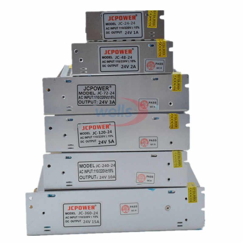 Kualitas Baik LED DC5V 12V 24V 36V 48V Strip Adaptor Daya untuk AC100-240V 1A 2A 3A 4A 5A 6A 10A 20A 30A 40A 50A 60A Power Supply