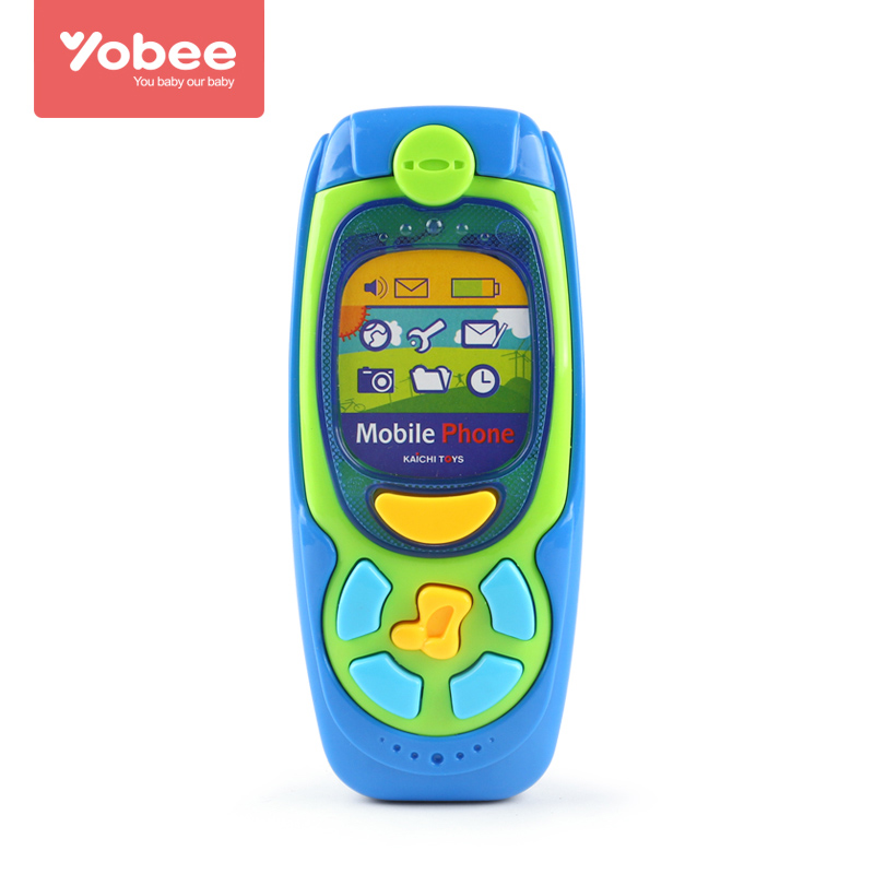 Yobee Musical Mobile Phone Toy Pretend Play Electronic Learning and Education Phone Toys Baby Children Gift