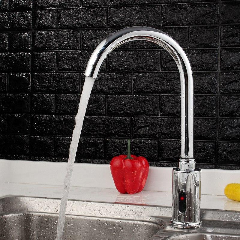 Électronique automatique capteur contrôle cuisine robinet d'eau infrarouge moderne salle de bains évier robinet bassin sens robinet mains Tact gratuit - 6