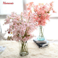 100 Cm Silk Cherry Blossom For Wedding Decoration DIY Tokyo Sakura Cherry Blossom Trees Artificial Flower