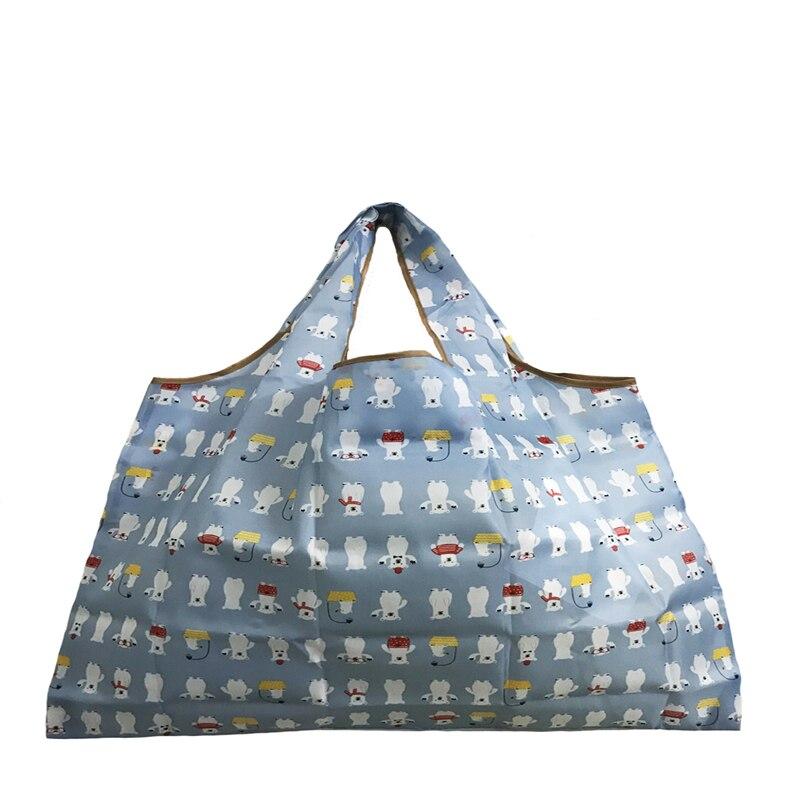 Bolsa Compra Reusable Bag New Women's Foldaway Shopper Bags Ladies Reusable Shopping Eco Tote Bag High Quality Popular