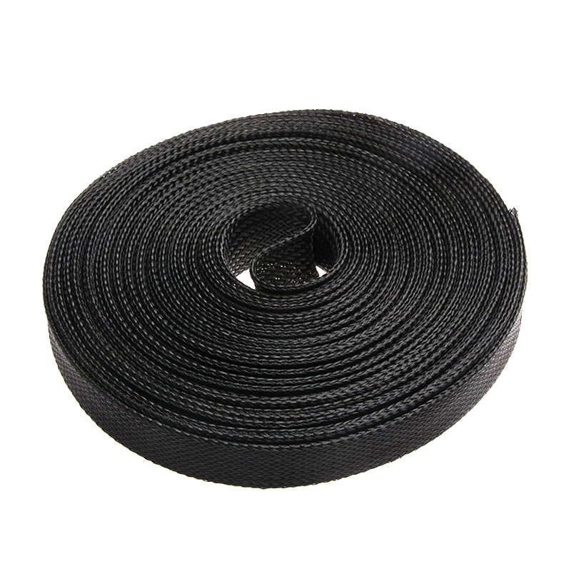 10M PET Insulation 25mm High Density Black Nylon Tight Expandable Braided Cable Sleeves Wire Gland Protection брюки accelerate tight