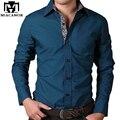 Новый 2017 Мужская Рубашка Хлопок Повседневная Мужчины Рубашки с Длинными рукавами Slim Fit Весна Осень мужская Clothing