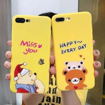 Cute Cartoon Bear Winnie Pooh Phone Case for Iphone X 7 8 Plus Matte Soft TPU for IPhone 6 6S winnie the pooh iphone case