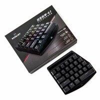 K1 27 Key Gaming Keyboard Bluetooth RGB Single Hand Mechanical Keyboard for PUBG LOL