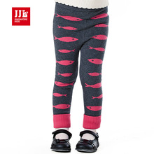 baby girls pants cartoon fish pattern deisgn for girls knitted legging winter straight kids pants for