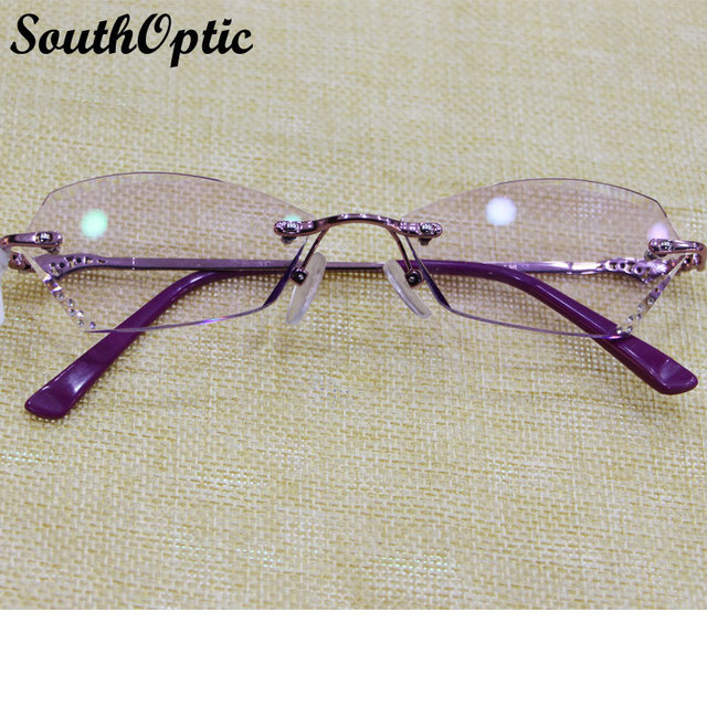 Corea gafas de titanio marco de las lentes ovalada gafas de montura negra gafas de titanio with1.61 Asphereic Tinted HMC EMI lentes UV400 7039