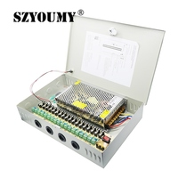 SZYOUMY 18 Channel 12V 20A PTZ IR Illuminator AccessControl for 18 CH DVR CCTV Camera Power Supply For Led Module Pixels