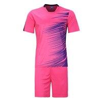 LIBO 2016 17 High Quality Soccer Team Training Jersey Suit Survetement Football Men's Blank Short De Foot Breathable Sportwear