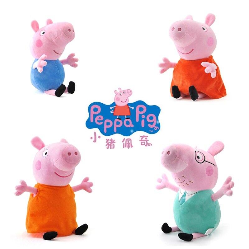 Peppa Pig 13cm Plush Toys For Kids Girls Baby Birthday Party Animal Plush Toys Gifts Original Brand original brand peppa pig plush toys 19cm 7 5 peppa george pig family toys for kids girls baby birthday party animal plush toys