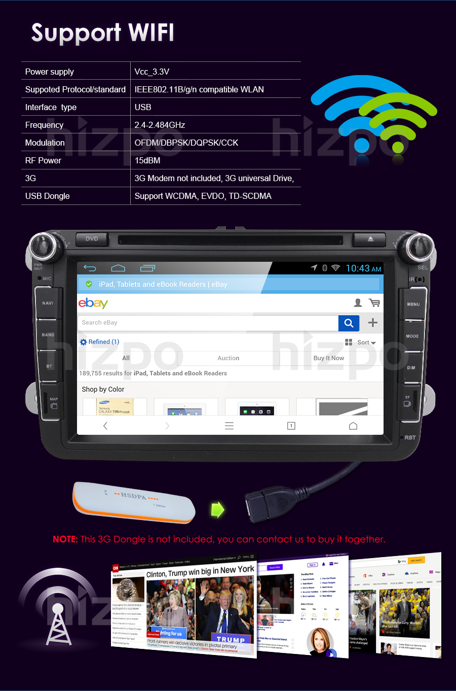 2 din android 71 car multimedia player fit volkswagen vw skoda product description fandeluxe Gallery