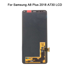 100% Tested SUPER AMOLED LCD for Samsung Galaxy A8 Plus 2018 A730 For SAMSUNG A730x LCD Display Touch Screen Digitizer 100% tested work perfect for samsung la37c530f1r main board bn41 01490b bn94 03991h screen t370hw03