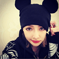 Winter Mouse Ear Beanie Hat Ladies Knit Hats For Women Beanies Caps Cute Woolen Boy And Girl Knitted Cap