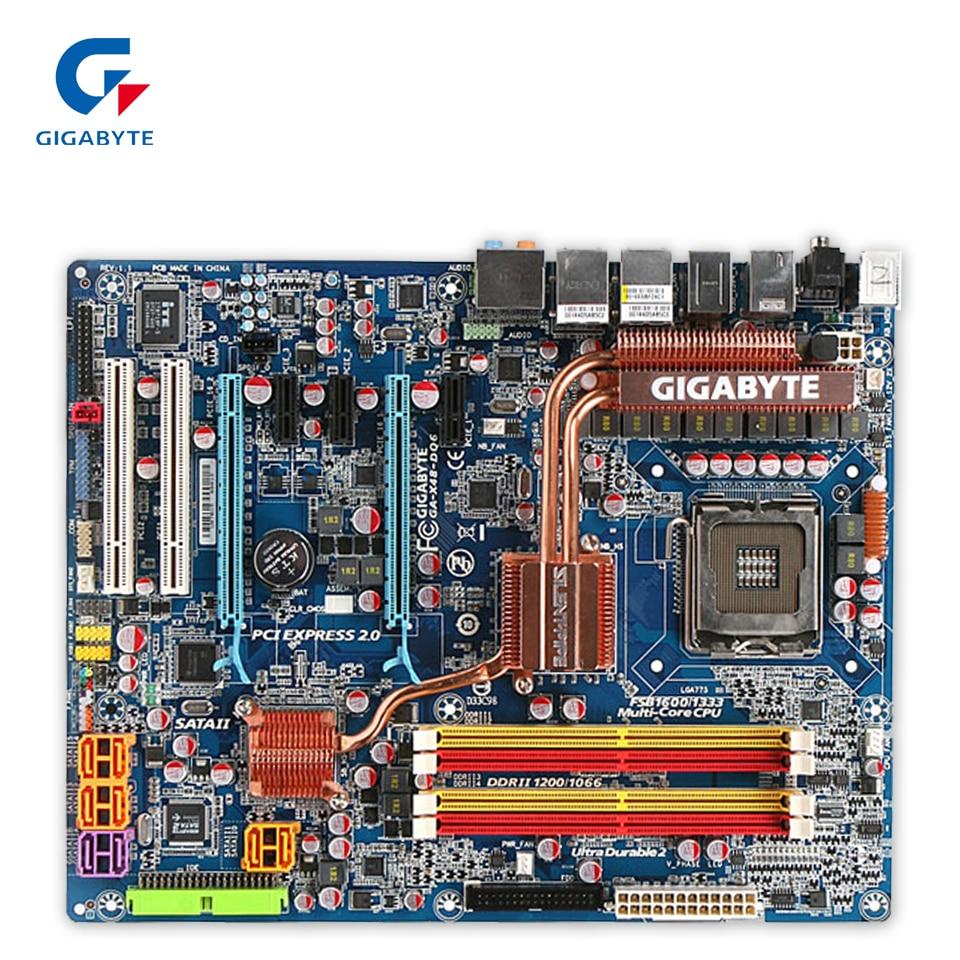 Original Gigabyte GA-X48-DQ6 Desktop Motherboard X48-DQ6 X48 LGA 775 DDR2 8G SATA2 ATX 100% Fully Test original gigabyte ga 945plm ds2 desktop motherboard 945plm ds2 945pl lga 775 ddr2 micro atx 100% fully test