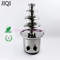 4 Tiers Electric Chocolate Fountain Maker Machine Sauce Heater Chocolate Fondue Wedding Birthday Christmas Pump Machine