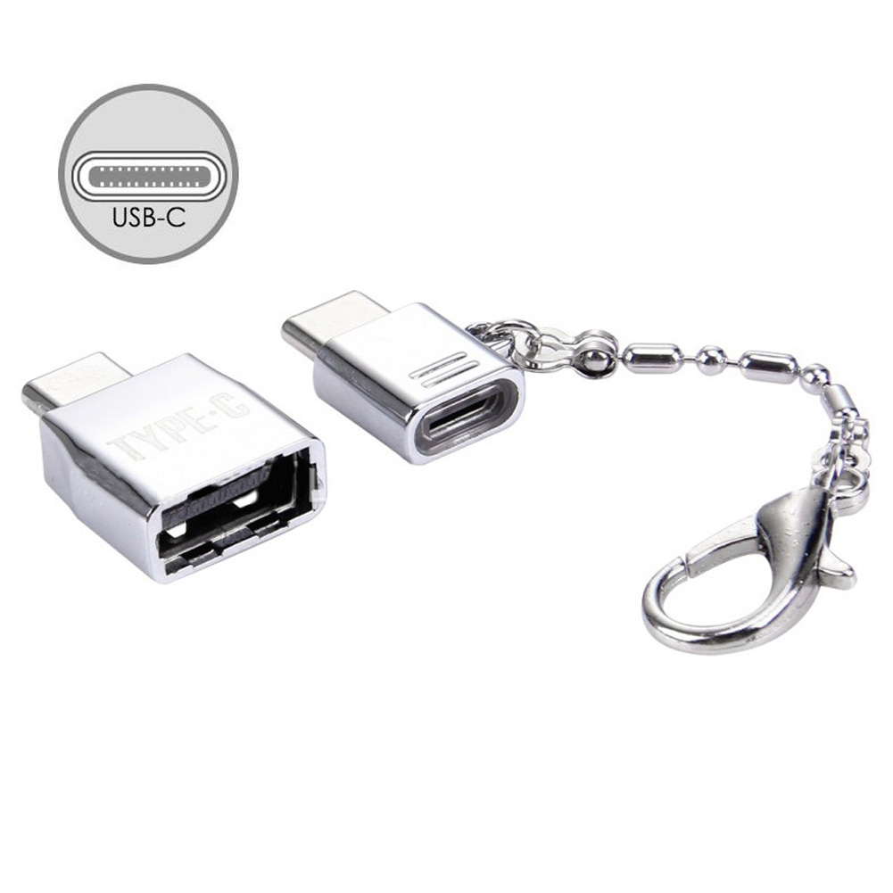 Metal Keychain Type-C Adapter Kits USB to Type C OTG Converter for Google Pixel Xiaomi QJY99 car usb sd aux adapter digital music changer mp3 converter for volkswagen beetle 2009 2011 fits select oem radios
