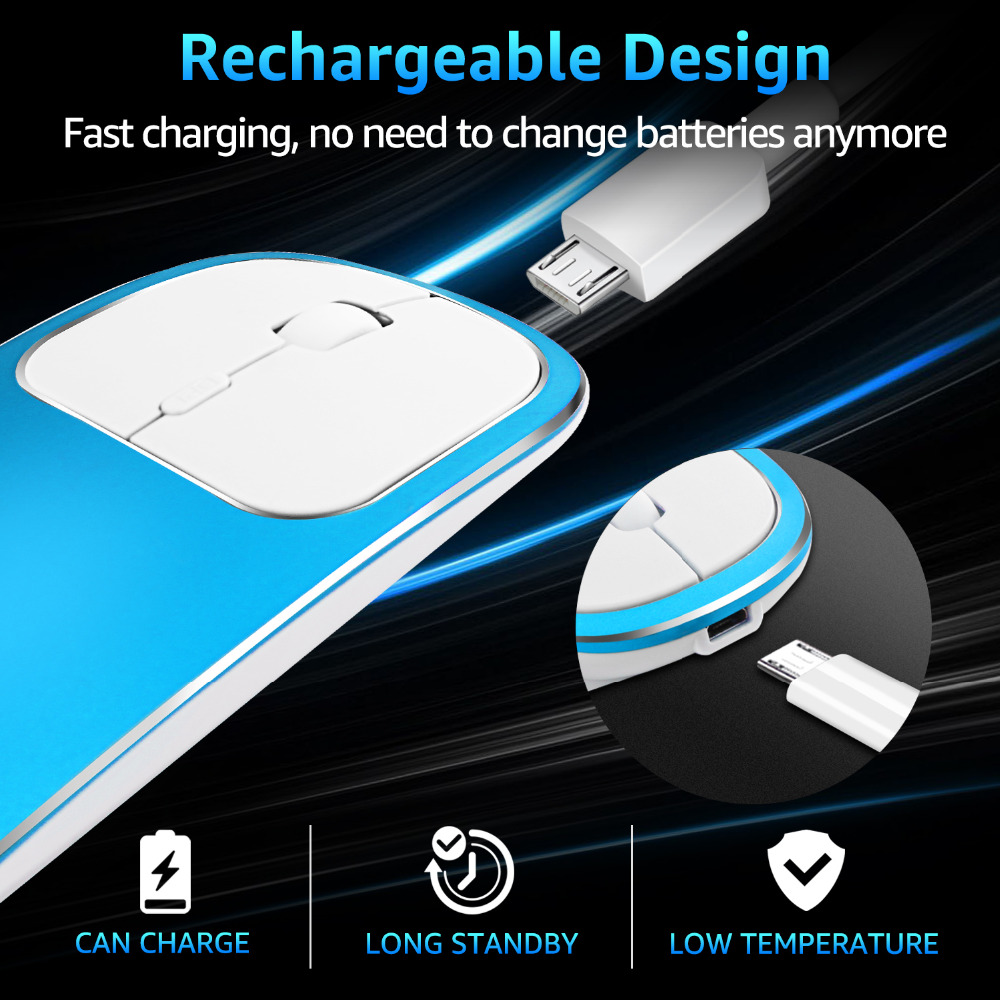 Landas USB 2 4G Rechargeable Wireless Mouse With Typed c transfer port For Windows Laptop Desktop Notebook PC Dropshipping in Mice from Computer Office