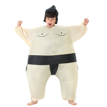 Fan Operated Inflatable Kids Sumo Suits Costume Sumo Wrestling Suits Outfits Halloween Purim Costumes Party Christmas Gift(China)