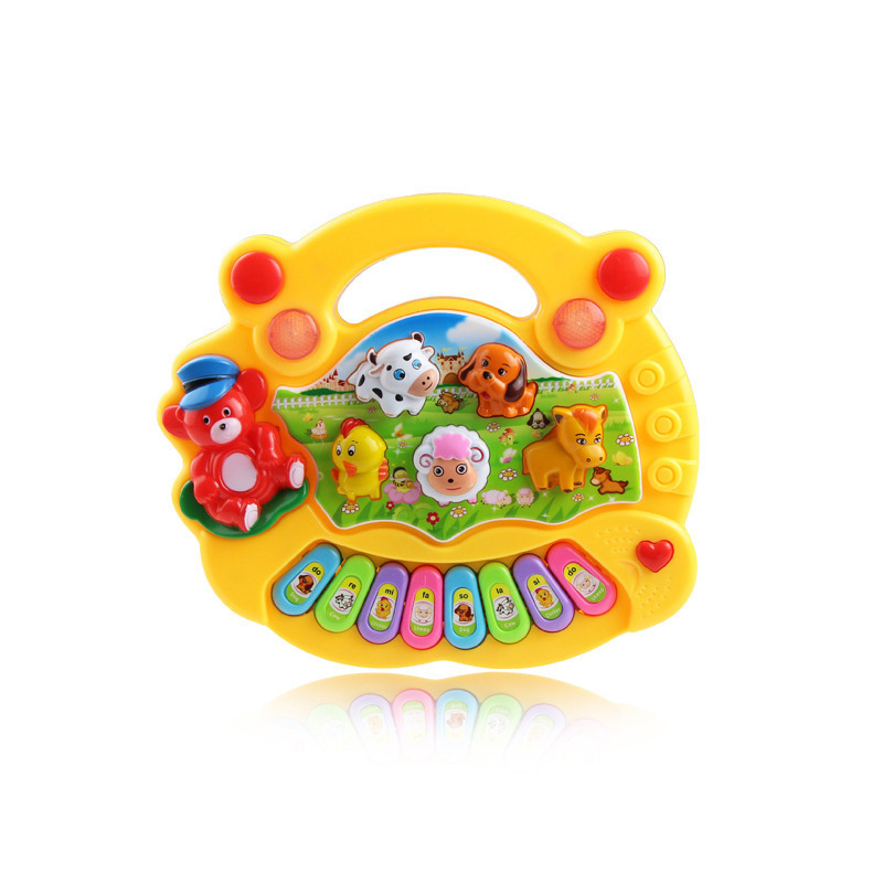 1pc Baby Musical Toys Educational Animal Farm Piano Developing Musical Toys with Animal Sound Cute Mini Sounding Toys New Brand