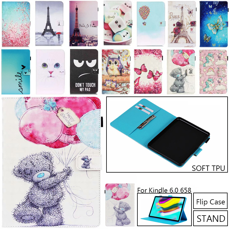 Cute Painted Magnetic Smart <font><b>Cover</b></font> Case for Amazon New <font><b>Kindle</b></font> 10th Generation <font><b>2019</b></font> Release 6 Inch 658 <font><b>Cover</b></font> for <font><b>Kindle</b></font> <font><b>2019</b></font> Case image